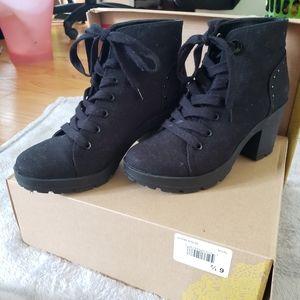 MIX NO. 6 Black chunky booties
